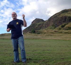 Nathan at Arthur's Seat